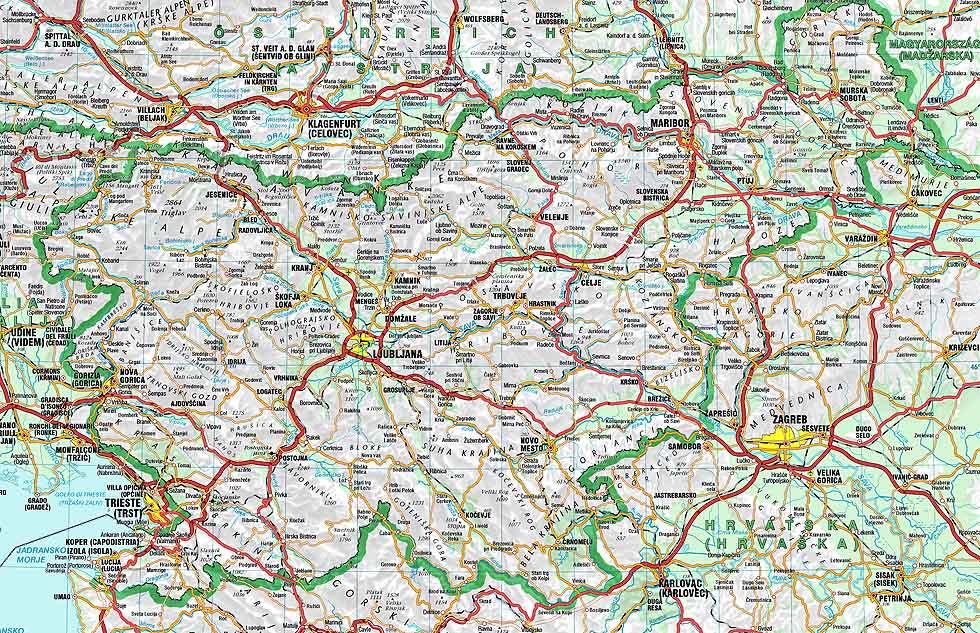 Karta Slovenije Ceste Karta