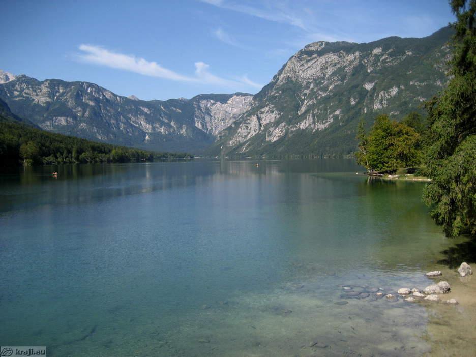 Bohinjsko Jezero Slovenia  city photos : Lake Bohinj Ribcev Laz Lake Bohinj from bridge in Ribcev Laz