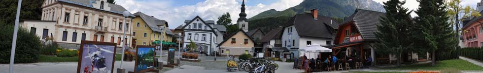 Kranjska Gora - Square in front of the Tourist Information Centre