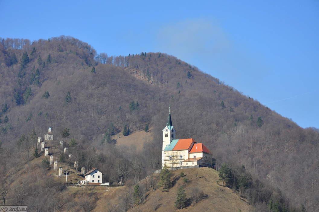 Idrija Slovenia  City pictures : Church of St. Anthony with Calvary Idrija Church of St. Anthony ...